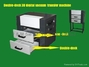 Double-deck 3D digital Vacuum transfer machine