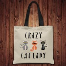 Tote bag - Crazy Cat lady
