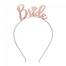 Stylish Rose Gold Bride Headband for Bride to Be - Hens Night
