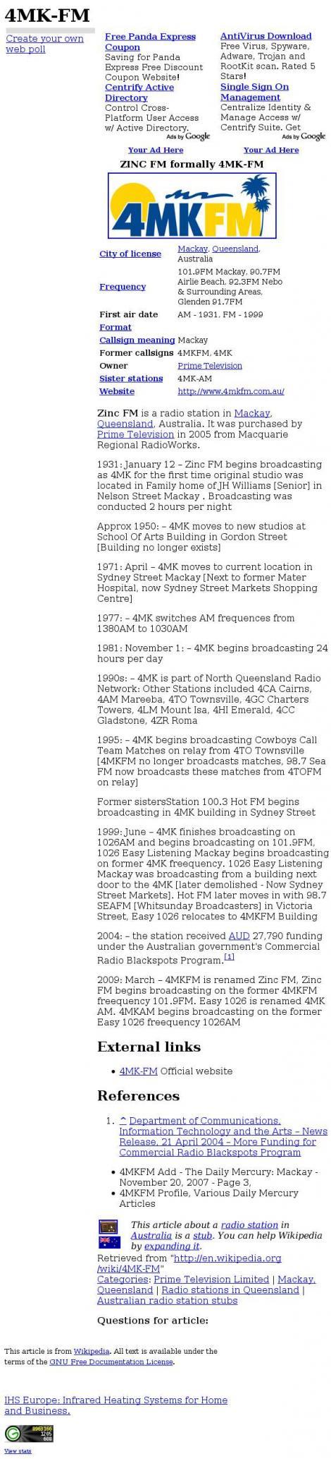 4mk Fm Hot Fm • Mackay • Queensland •